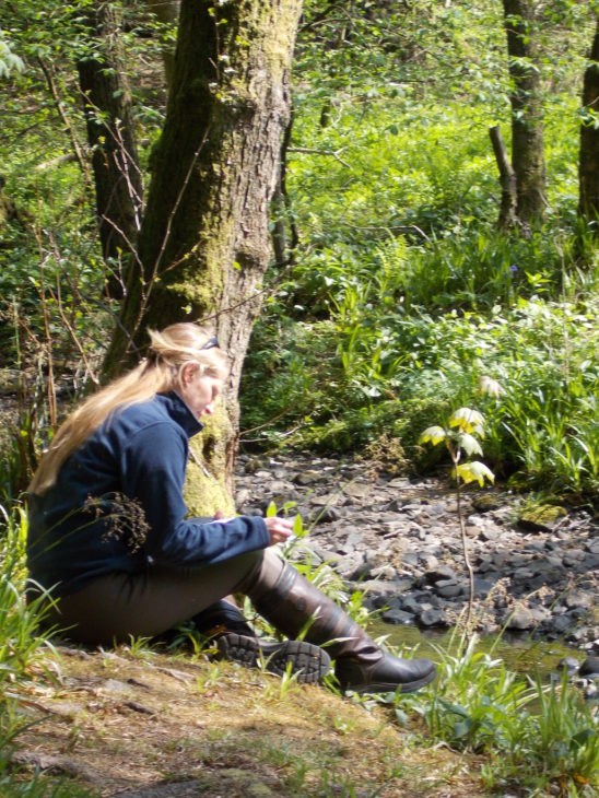 Taking time in nature - image Scottish Wildlife Trust