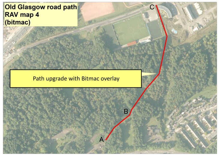 Old Glasgow Rd access work map
